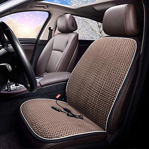 Xljh Auto Riscaldamento Sedile Cuscino Inverno Calda termoregolatore Riscaldamento Automatico 12V 24v,Brown