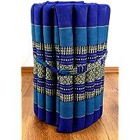 Preisvergleich für Kapok Rollmatte in 190cm x 50cm x 4,5cm der Marke LivAsia®; Liegematte bzw. Yogamatte, Thaikissen, Thaimatte als asiatische Rollmatratze