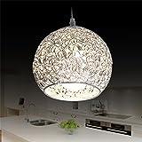 LED Silber Metallbasis Kronleuchter Hänge Aluminium Halbkugel Runde Kugel Schatten Single Pendelleuchten Indoor Restaurant Droplight Deckenleuchte (keine Glühbirne)
