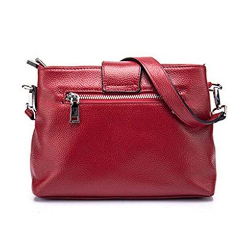 Damen Umhängetasche Brieftasche Diagonal Paket Redwine