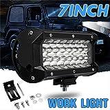 FQGFZ Lampe 72W LED Work Light Spot Lamp 12V 7 Inch 6000KSuper Bright 24 LED Spotlight for Offroad Truck Car Boat Lighting