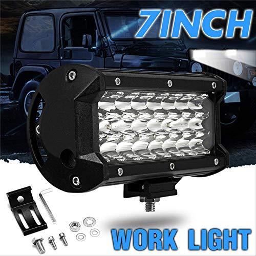 FQGFZ Lampe 72W LED Work Light Spot Lamp 12V 7 Inch 6000KSuper Bright 24 LED Spotlight for Offroad Truck Car Boat Lighting 24 Led Work Light