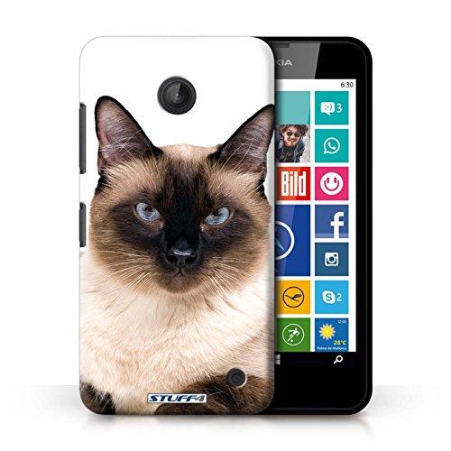 Kobalt® Imprimé Etui / Coque pour Nokia Lumia 635 / Peterbald conception / Série Espèces de chats Siamois