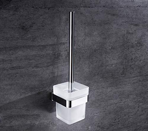 Sursy Toilettenbürstenhalter aus Kupfer, WC-Bürstengriff aus Edelstahl, Glas Tasse -