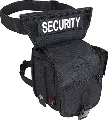 Security Hip Bag Gürteltasche mit Bein- und Gürtelbefestigung Schwarz