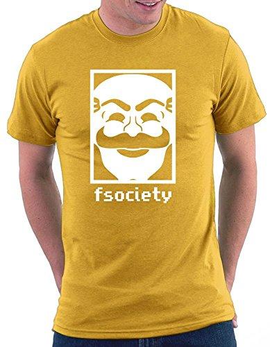 fsociety T-shirt Gelb