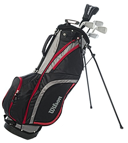 Wilson ProStaff HDX Golf Halbsatz Eisen 5/7/9/SW Holz 3, Putter, Standbag