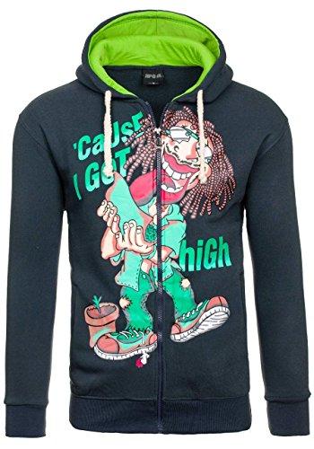 BOLF - Sweat-shirt con cappuccio - Con cerniera – P&L FASHION 219 – Uomo Grafite