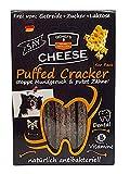 QCHEFS Puffed Cracker 5er|Hunde Zahnpflege-Snack|Kauknochen groß| Knochen gegen Mundgeruch & Zahnfleischentzündung| Zahnsteinentferner|Hundeleckerlie| Kauartikel|Hüttenkäse- natürlich antibakteriell