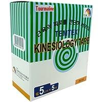 Temtex - Tourmaline kinesiology tape 5x5 6 uds, talla 5 cm x 5 m, color beige