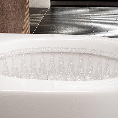 NEG Hänge-WC Uno11 (Tiefspüler) Toilette mit geschlossenem Unterspülrand, Duroplast Soft-Close-Deckel und Nano-Beschichtung - 3