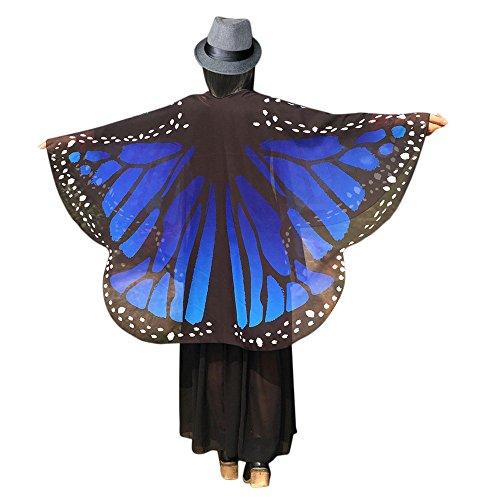 TIFIY Damen Schmetterling Flügel Schal, Damen Halloween Cosplay -