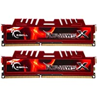 G.Skill 16 GB RipjawsX - Memoria RAM (Kit 2 x 8GB, DDR3-1600 MHz, PC3 12800, CL 10), Rojo