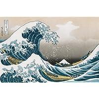 Katsushika Hokusai The Great Wave off Kanagawa Art Print Maxi Poster - 61x91 cm