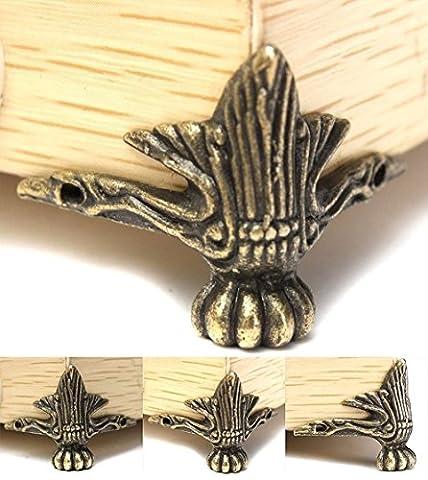 zedtom 4pièces décoratif coin Pied pieds pour boîte à bijoux Table avec vis Style vintage