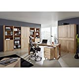 Exkl. Komplett Büromöbel Set Kernbuche massiv Büro Arbeitszimmer Schreibtisch