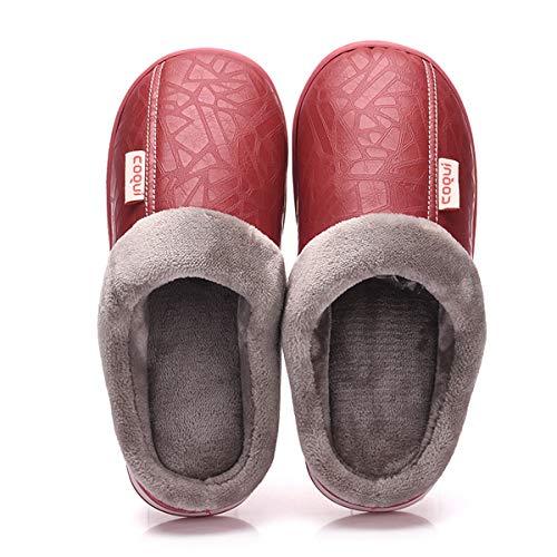 Lianaio pantofole classiche pantofole impermeabili in cotone caldo spessa semplici e comode ideali per 36/37