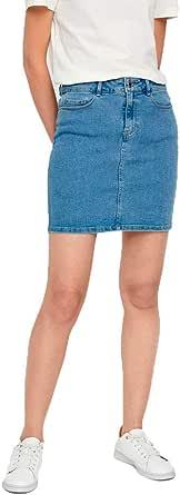 Vero Moda Vmhot Seven Mr S Skirt DNM Mix Ga Noos Gonna Donna