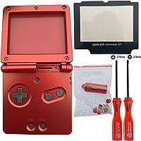 iMinker Full Housing Shell paquete de piezas de repuesto de la cubierta del caso con herramientas abiertas para Nintendo Gameboy Advance SP, GBA SP (rojo)