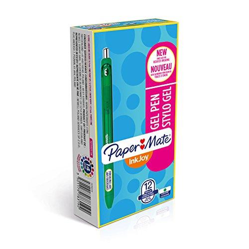 paper-mate-inkjoy-gelschreiber-feine-spitze-12er-packung-grun