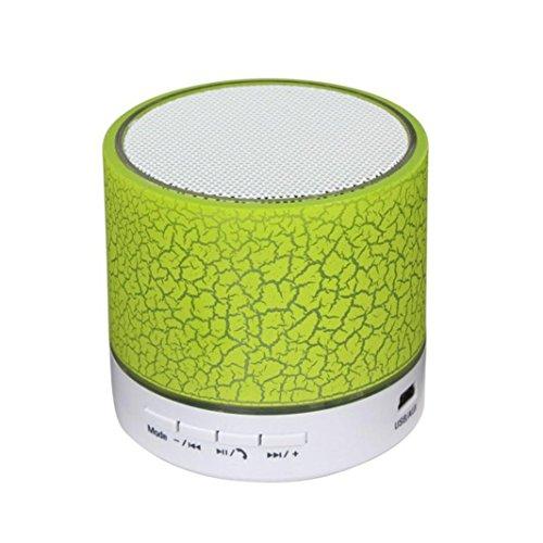 Tefamore Mini Altavoz Bluetooth Estéreo Bluetooth Portátil Para Tablet PC FM (Verde)