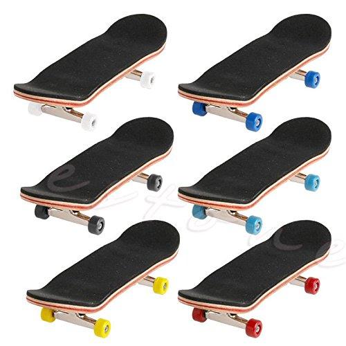 Mentin 1 Satz Holz Deck Griffbrett Skateboard Sport Spiele Kinder Geschenk Ahornholz Set Neu (Rot)