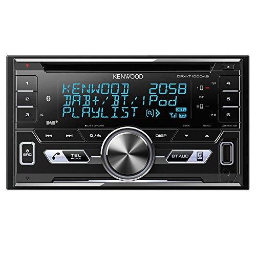 Kenwood DPX-7100DAB Doppel-DIN-Receiver mit iPod-Steuerung / Bluetooth-Freisprecheinrichtung und DAB+ Tuner schwarz