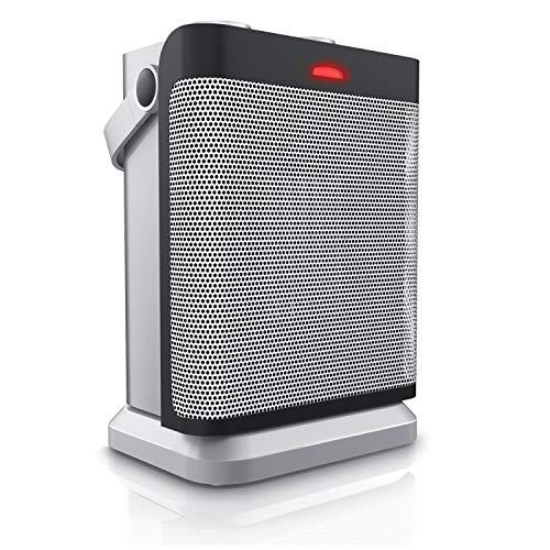 Brandson - Heizlüfter mit zwei Leistungsstufen und stufenlose Temperaturregelung - energiesparend - 1800 W - Oszillation - Überhitzungsschutz, Umkippschutz - Heizung Heater - GS-zertifiziert