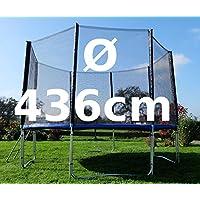 Preisvergleich für Outdoor Gartentrampolin Trampolin XL - 436cm komplett inkl. Sicherheitsnetz und Leiter TÜV geprüft von AS-S