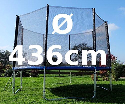Outdoor Gartentrampolin Trampolin XL - 436cm komplett inkl. Sicherheitsnetz und Leiter TÜV geprüft von AS-S