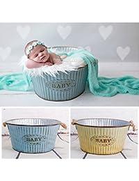 Contenant rond en métal, forme bassine , couleur au choix