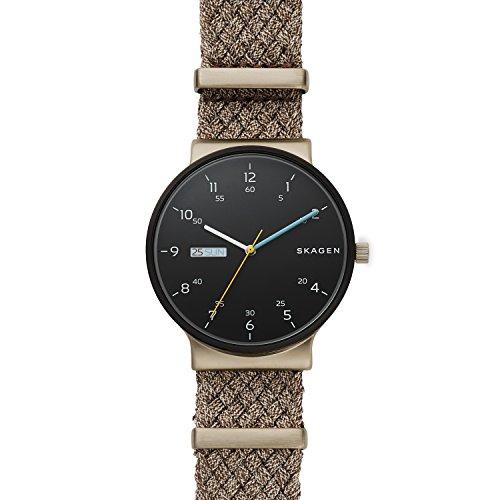 Skagen Reloj Analógico para Hombre de Cuarzo con Correa en Nailon SKW6453