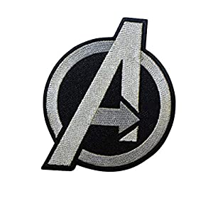 Cobra Tactical Solutions Avengers Embroidery Patch Silver with Hook & Loop for Cosplay/Airsoft / Paintball