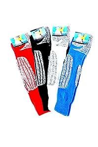 2 Paar warme Skisocken mit Schafwolle und einer Spezial-Polsterung, Farbe:Blau;Größe:35-38