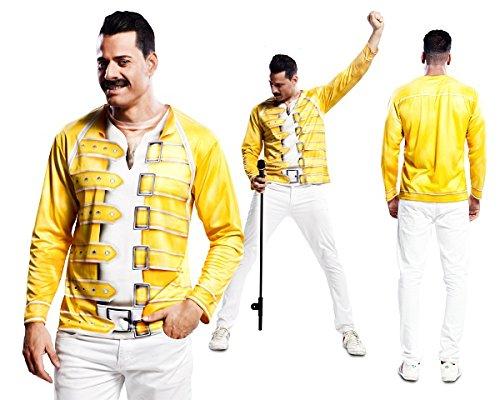 80er Jahre Sänger T-Shirt Kostüm Star (Stars Kostüme)