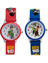 Swadesi Stuff Ben10 Red & Blue Color Stylish Kids Watch for Boys & Girls