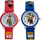 Swadesi Stuff Ben10 Red & Blue Color Stylish Kids Watch for Boys