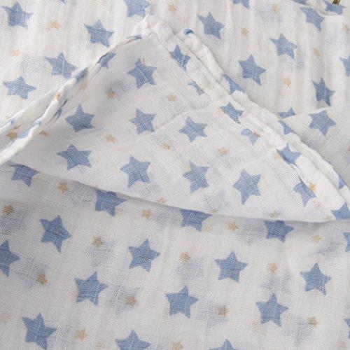 1 Stück Musselin Baumwolldecke Neugeborenen Babydecke Swaddle Badetuch Sternen