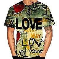 Herren Kurzarm T-Shirt   Gedruckt Pullover Basic Brief Bedruckt T-Shirt 3D  Übergröße 99eab45ce7