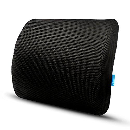 2me cuscino lombare di premium memory foam supporto lombare lower back sollievo - versione unica per l'italia per casa, ufficio, auto
