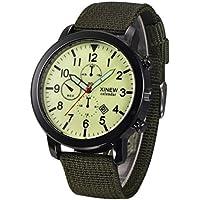 Xinantime Reloje Hombre,Xinan Reloj Pulsera de Deporte Negro Militar Luminoso (Verde)