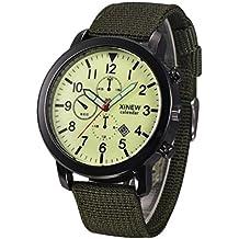 Reloje Hombre,Xinan Reloj Pulsera de Deporte Negro Militar Luminoso (Verde)