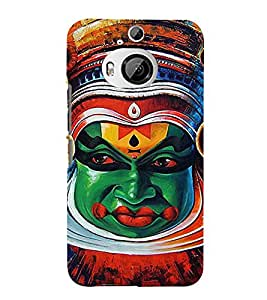 Fiobs Designer Back Case Cover for HTC One M9 Plus :: HTC One M9+ :: HTC One M9+ Supreme Camera (Kathakkali Ful Flower Dance Nach)