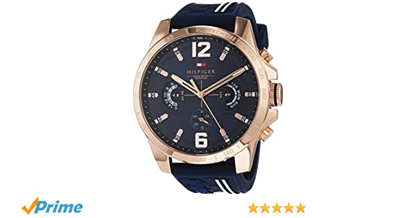 f78066ab1b9e3 Tommy Hilfiger Unisex-Adult Multi dial Quartz Watch with Silicone Strap  1791474  Amazon.co.uk  Watches