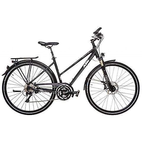 KTM Trentino Light Damen 30 Gang Trekking Fahrrad 2016, Farbe:Schwarz;Rahmenhöhe:51 cm