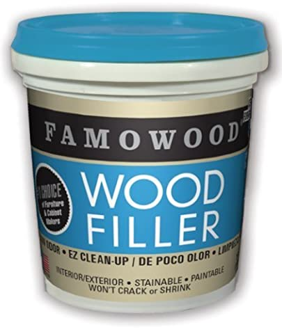 FAMOWOOD Latex Wood Filler - Natural - 1/4 Pint (118mL) by Eclectic Products, Inc.