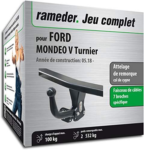 Rameder Attelage démontable avec Outil pour Ford Mondeo V Turnier + Faisceau 7 Broches (153212-13127-2-FR)