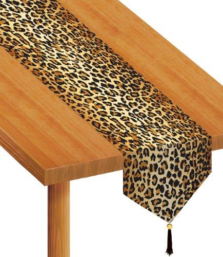 ckt Leopard Print Tischläufer, 27,9cm by druckknopfstiel (Leopard Party Supplies)