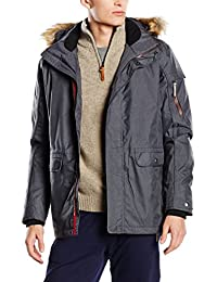 CMP Man Shell Jacket Zip Hood CMP 3Z25147 Größe 46 nero meliert