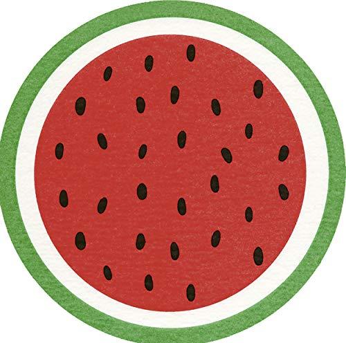 12 Servietten gestanzt Melone Südfrucht Essen -